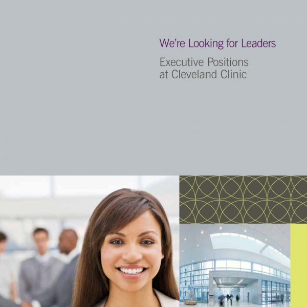 CLEVELAND CLINIC: Executive Recruitment