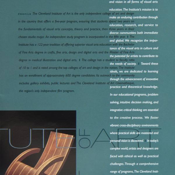 CLEVELAND INSTITUTE OF ART: Annual Report '03 -'04